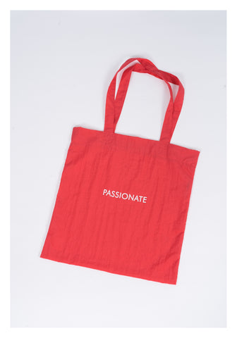 Message Tote Bag Red - whoami