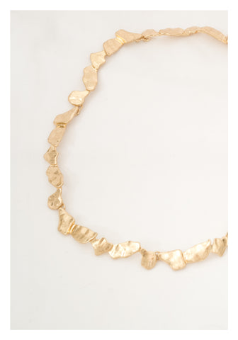 Metal Flakes Necklace Gold - whoami