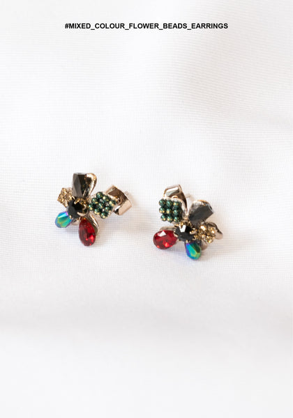Mixed Colour Flower Beads Earrings - whoami