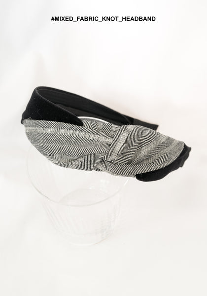 Mixed Fabric Knot Headband - whoami