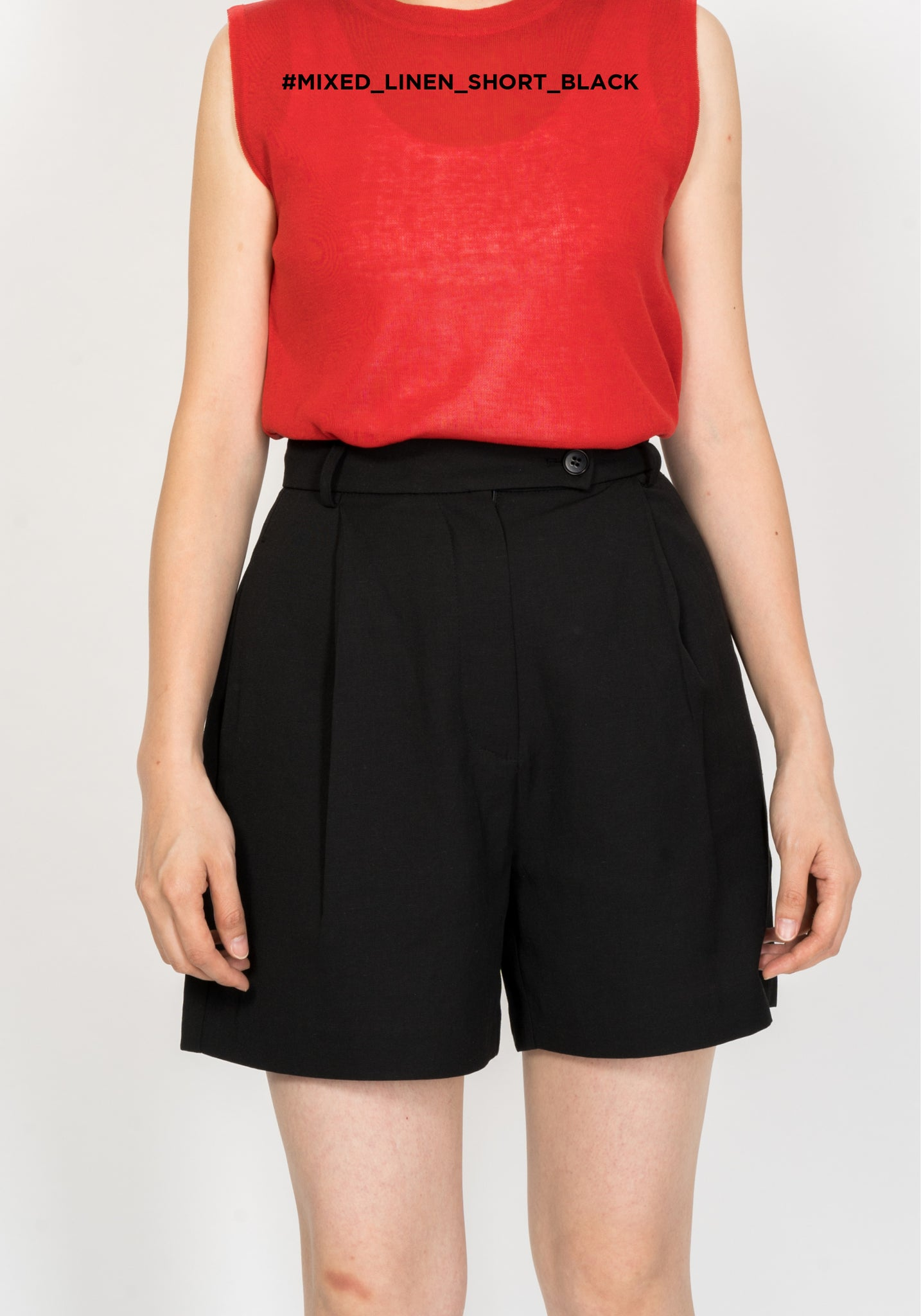 Mixed Linen Shorts Black - whoami
