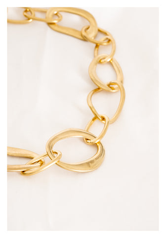 Mixed Organic Ring Bold Necklace - whoami