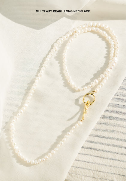 Multi Way Pearl Long Necklace - whoami