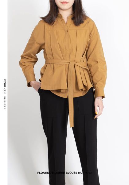 Floating Layered Blouse Mustard - whoami