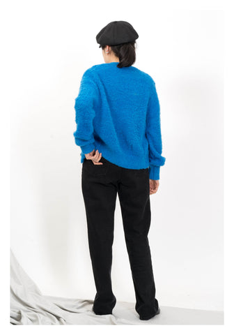Marshmallow Wool Cardigan Blue
