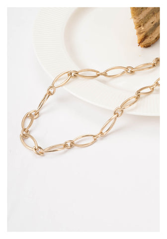 Matt Gold Ellipse Necklace - whoami