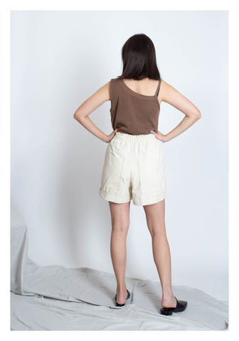 Mixed Strap Vest Brown - whoami