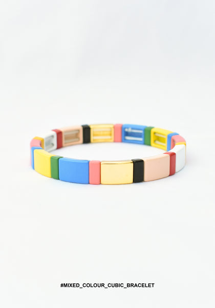 Mixed Colour Cubic Bracelet