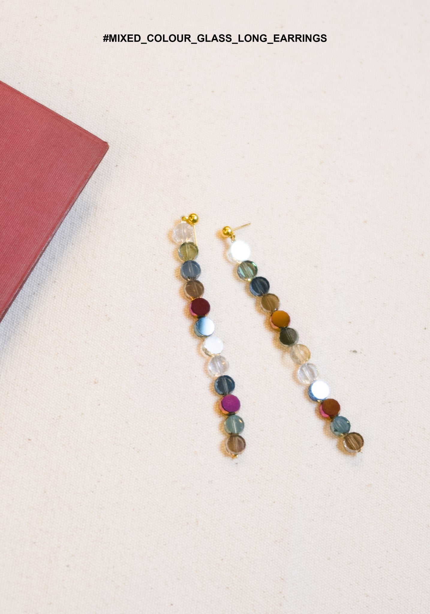Mixed Colour Glass Long Earrings - whoami