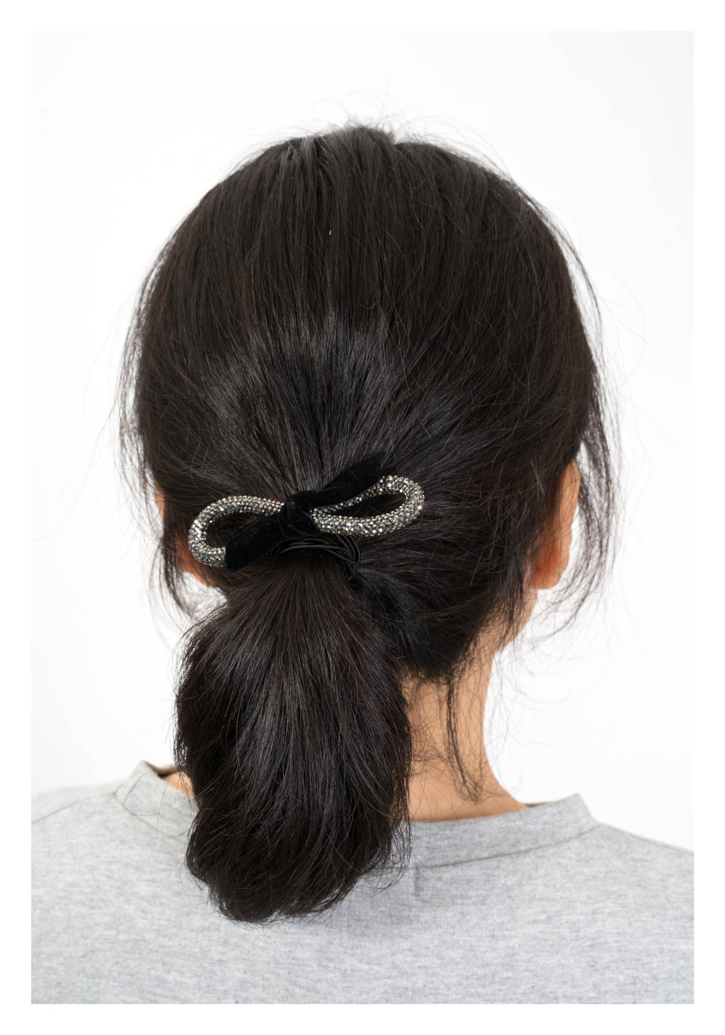 Sparkle Line Ribbon Hairband Black - whoami