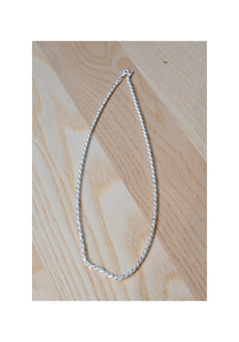 925 Silver Modern Twisted Chain Necklace - whoami