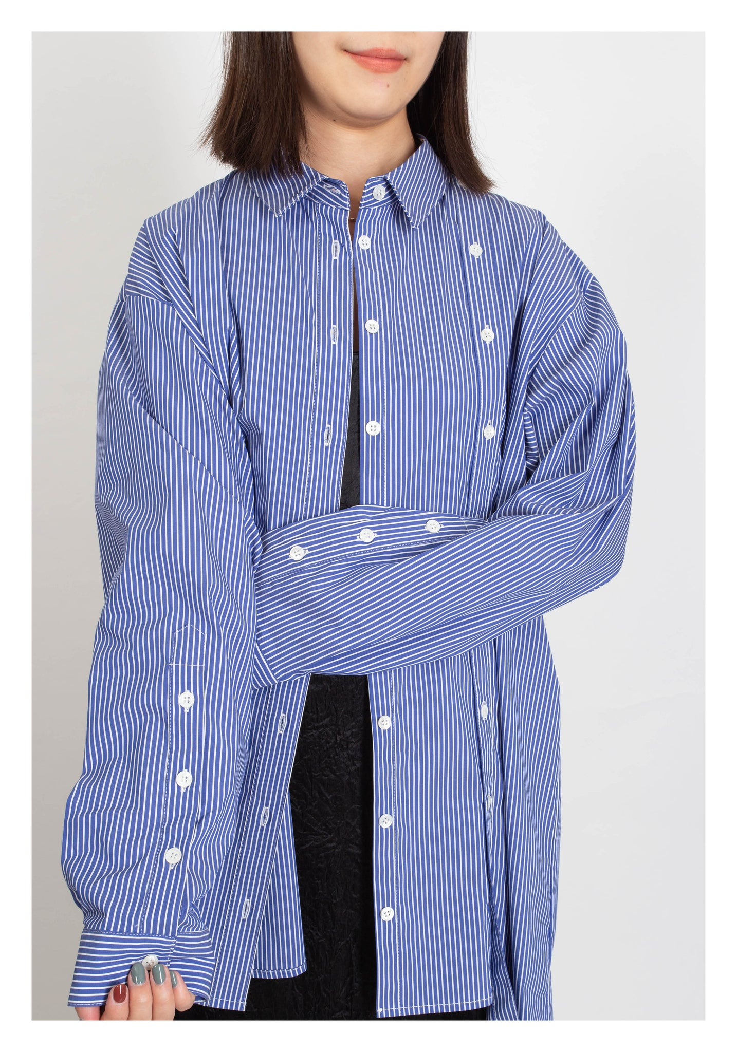 Multi Way Stripe Long Shirt - whoami