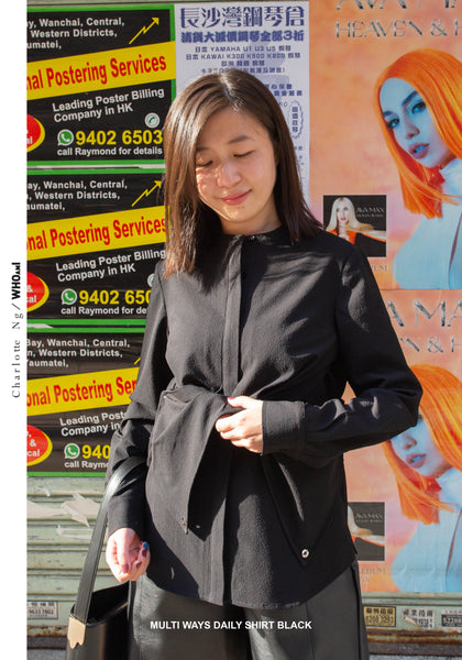 Multi Ways Daily Shirt Black - whoami
