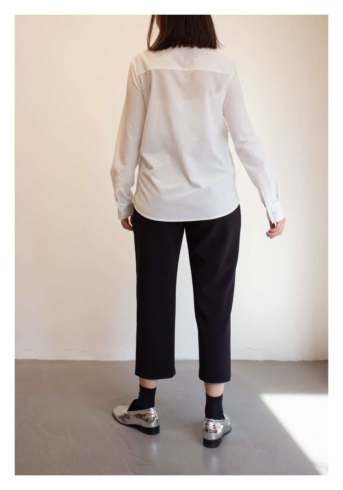 Multi Ways Daily Shirt White - whoami