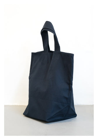 Navy Canvas Tote Bag Large