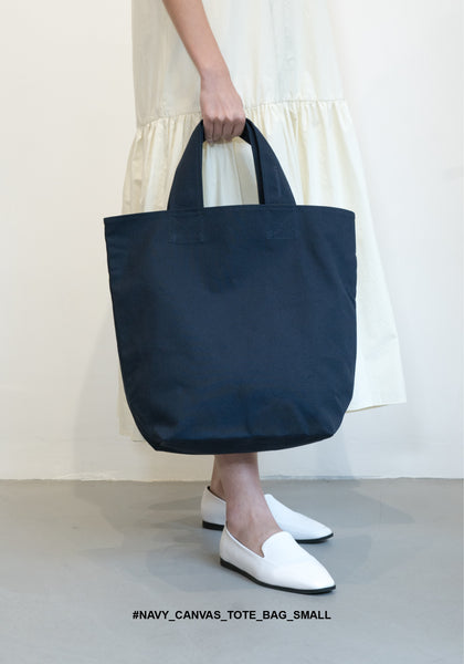 Navy Canvas Tote Bag Small