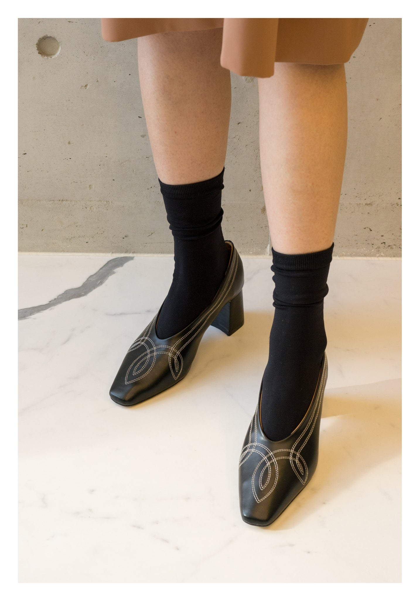 Silky Soft Socks Black - whoami