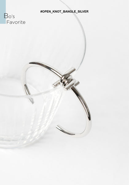 Open Knot Bangle Silver - whoami