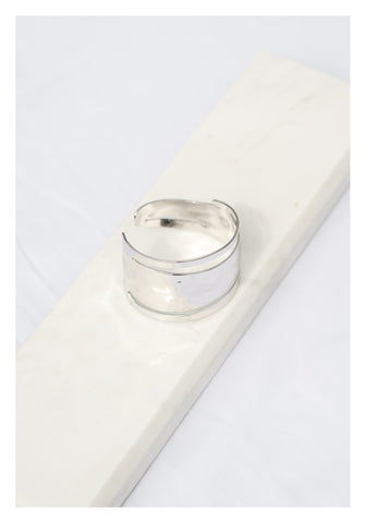 Open Slot Bangle Bracelet Silver - whoami