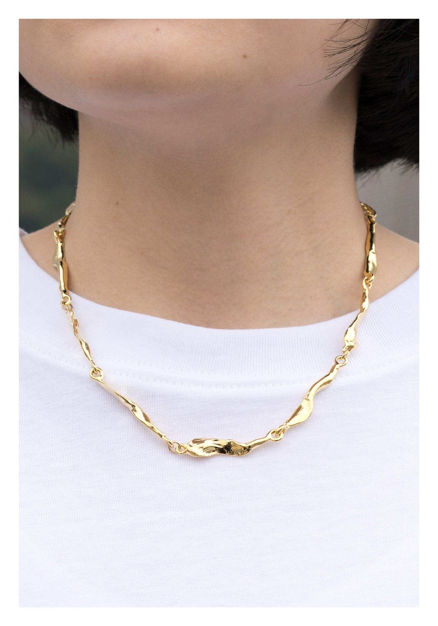 Organic Bar Necklace Gold - whoami