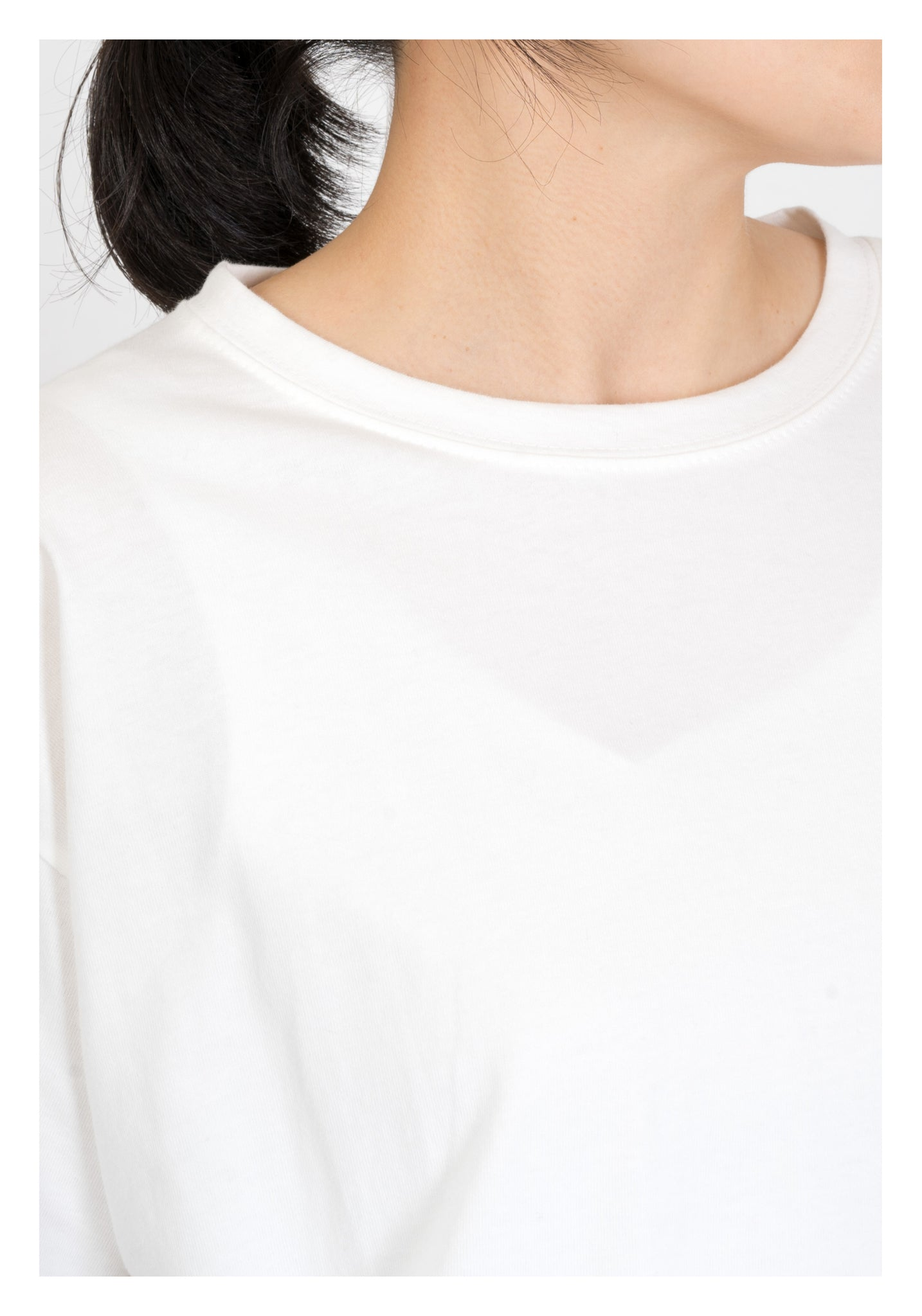 Oversize Side Slit Tee White - whoami