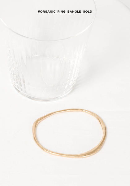 Organic Ring Bangle Gold - whoami