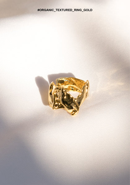 Organic Textured Ring Gold - whoami