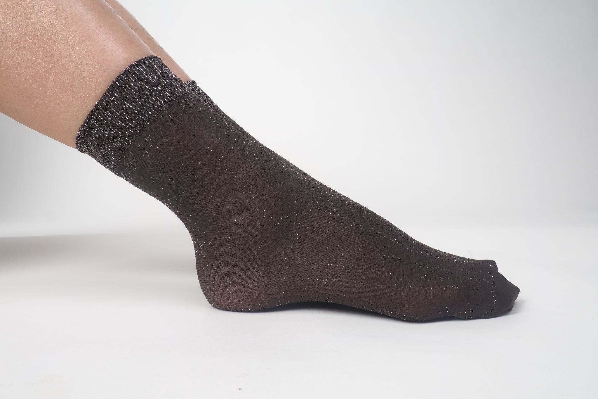 Glitter Socks Brown - whoami