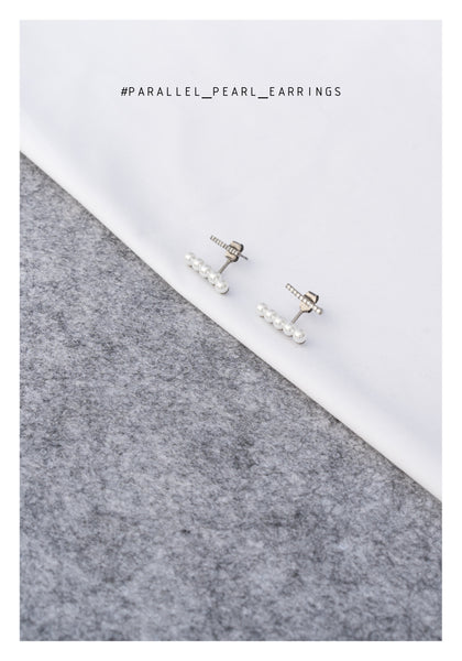 Parallel Pearl Earrings