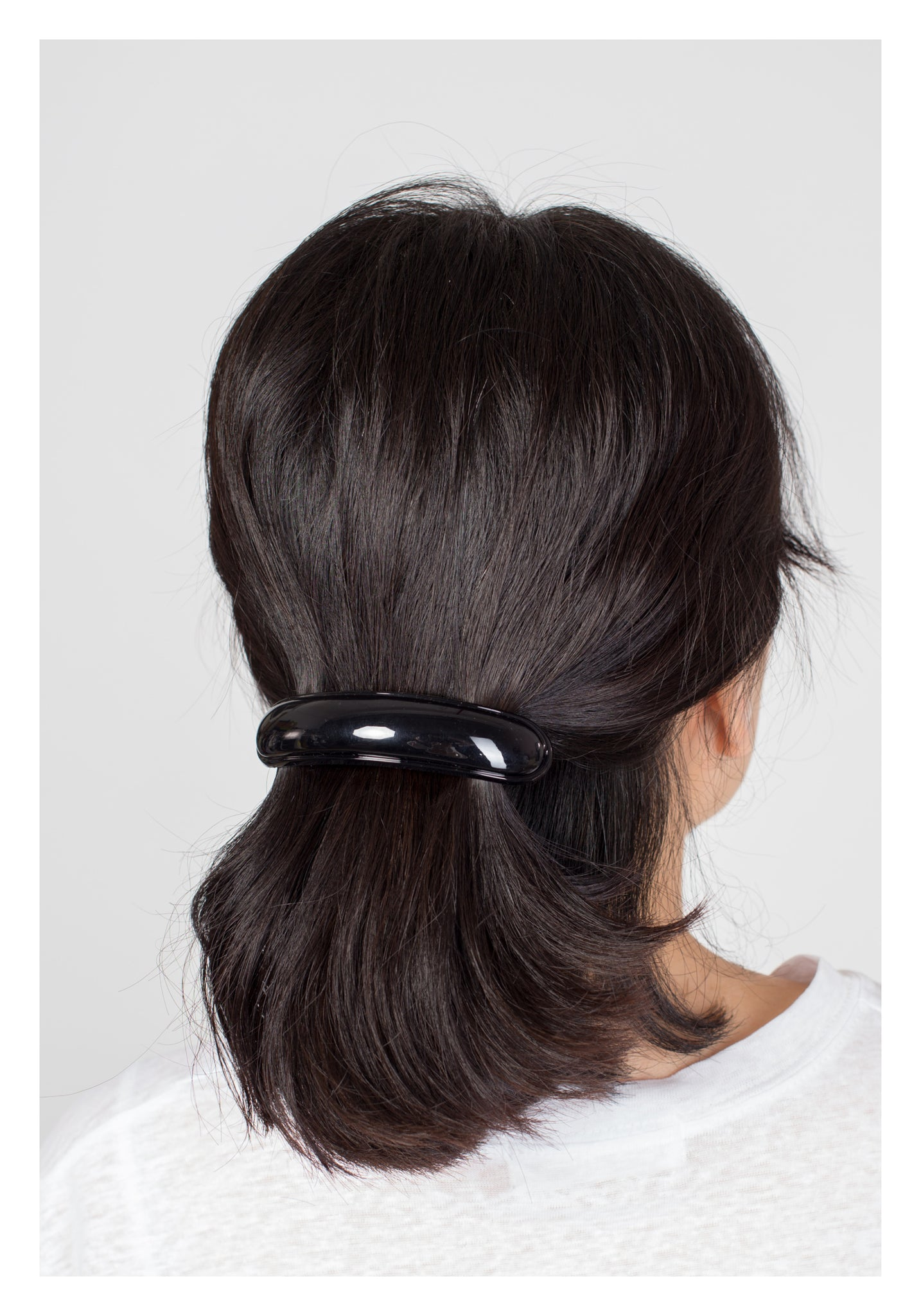 Parisian Classic Long Curve Hairclip Black - whoami