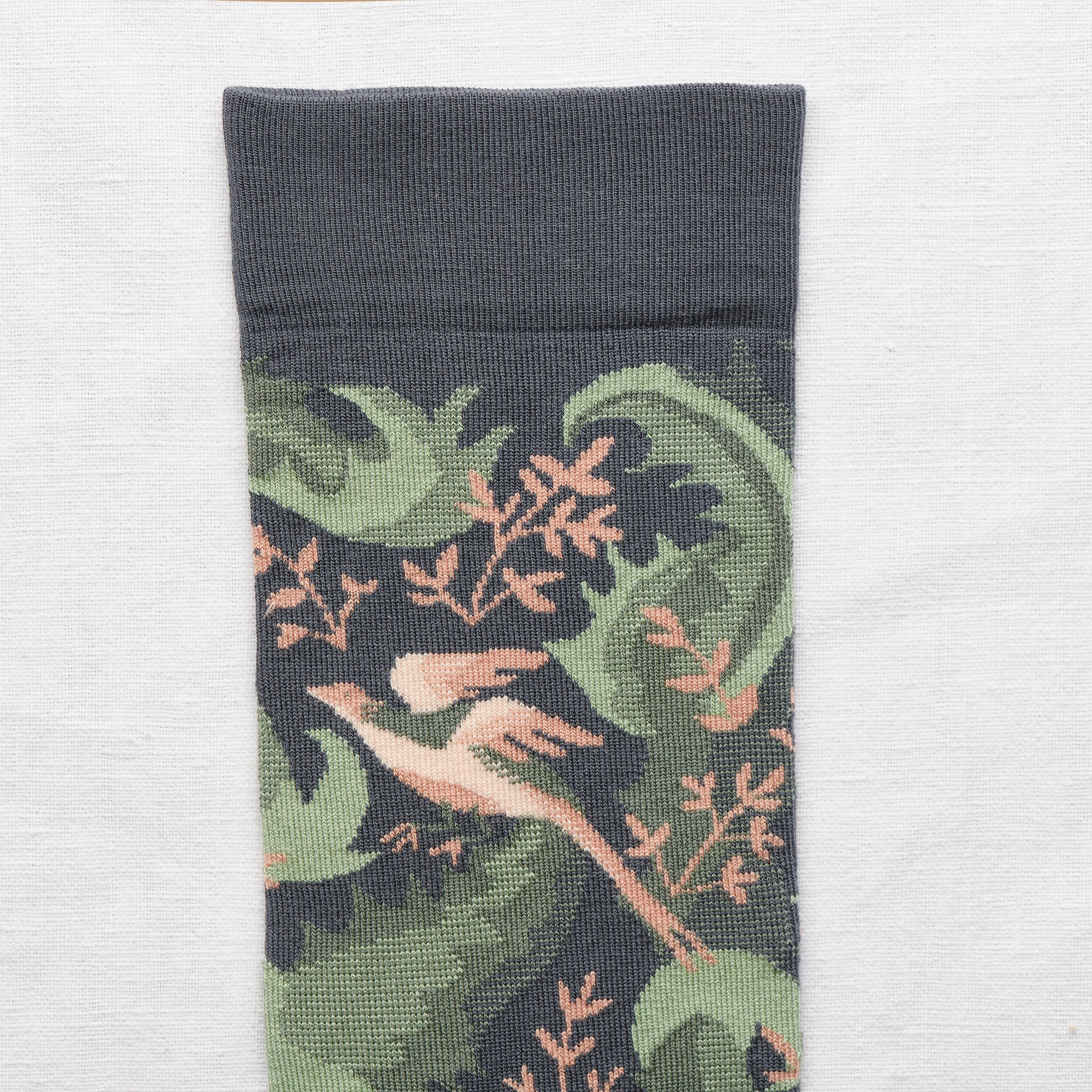 La Princesse Birds Socks Steel - whoami