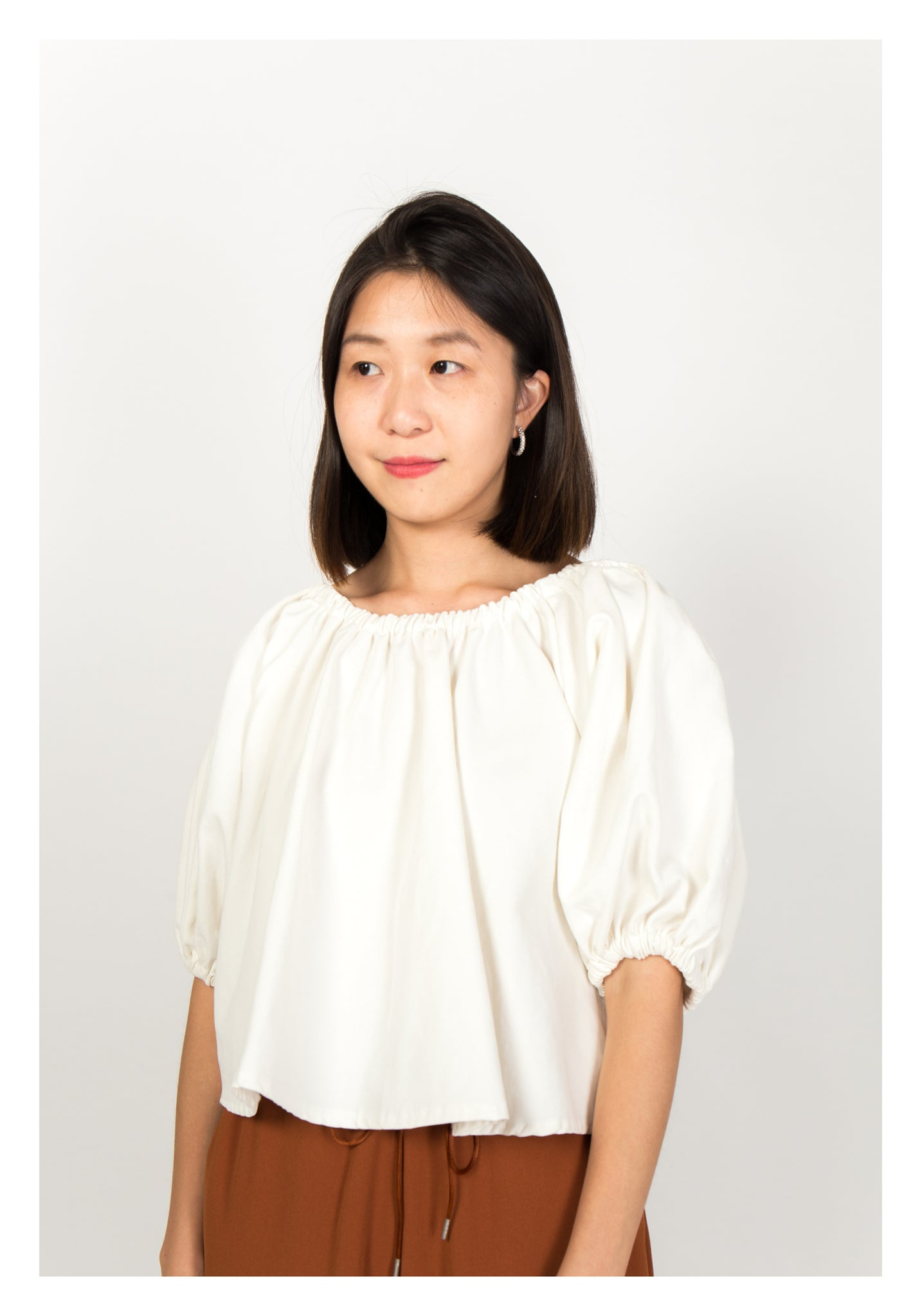 Puff Sleeve Doll Top White