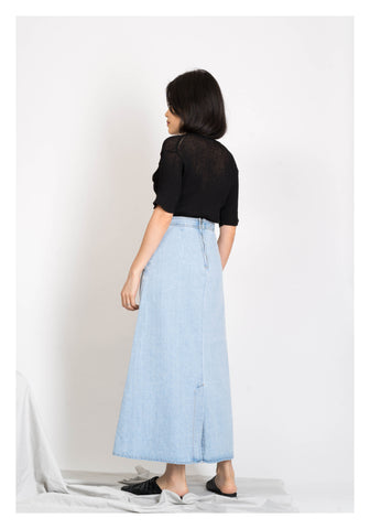 Panelled Denim Skirt - whoami