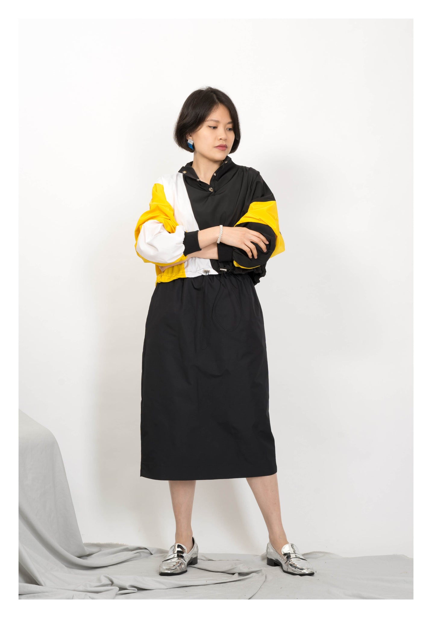 Parka Pocket Skirt Black - whoami