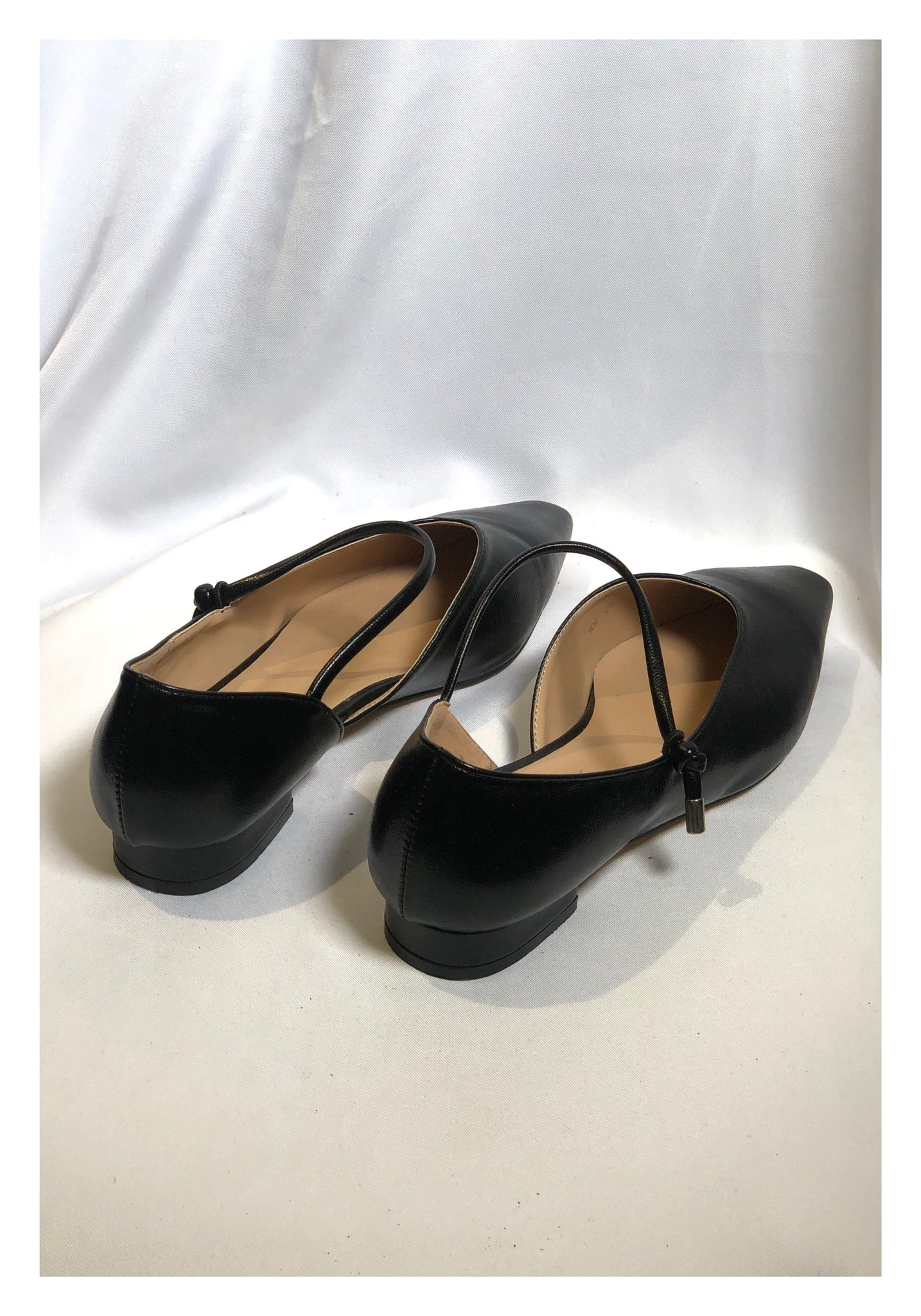 Sample Shoes - Pointed Strap Shoes Black