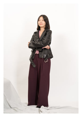 Premium Leather Belted Biker Jacket - whoami