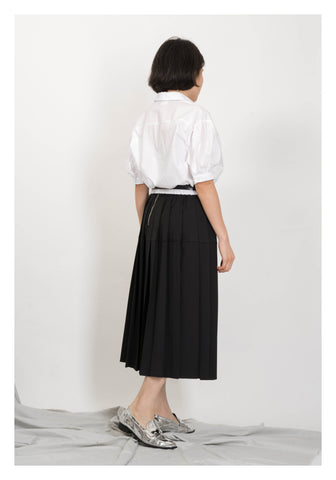 Proportion Pleated Skirt Black