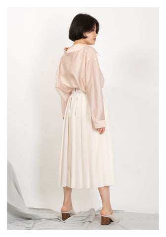 Proportion Pleated Skirt Ivory