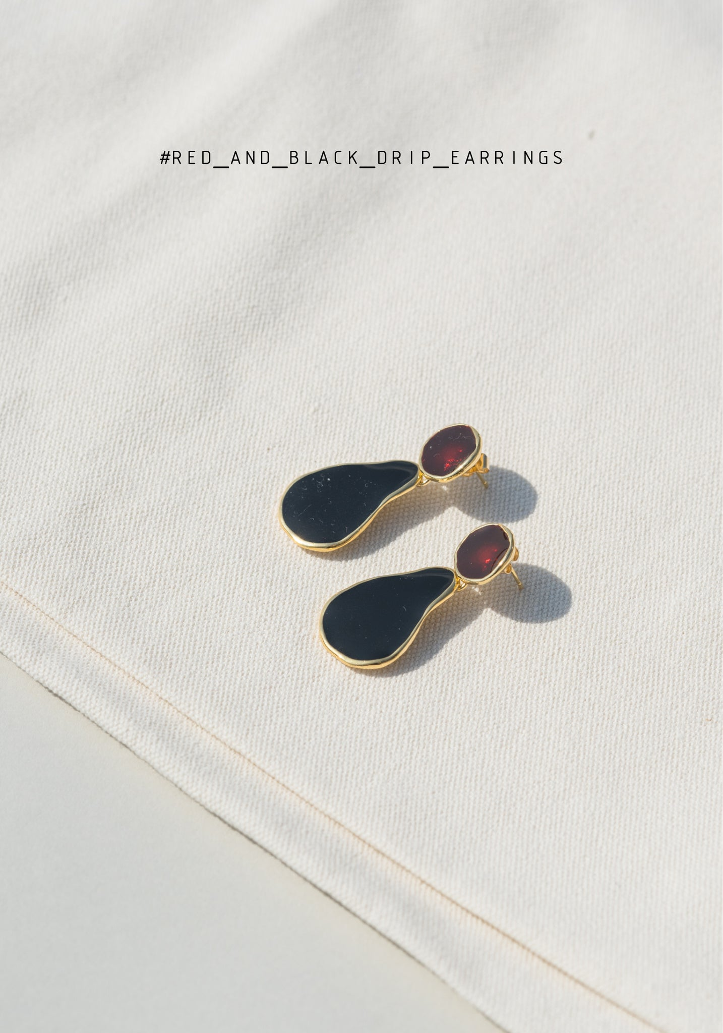 Red and Black Drip Earrings - whoami