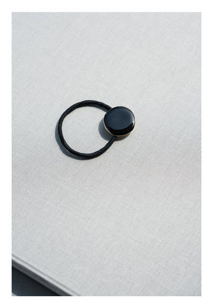 Resin Plated Hair Band Black