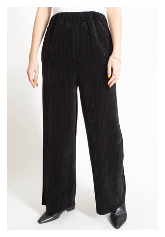 Ribbed Corduroy Daily Pants Black - whoami