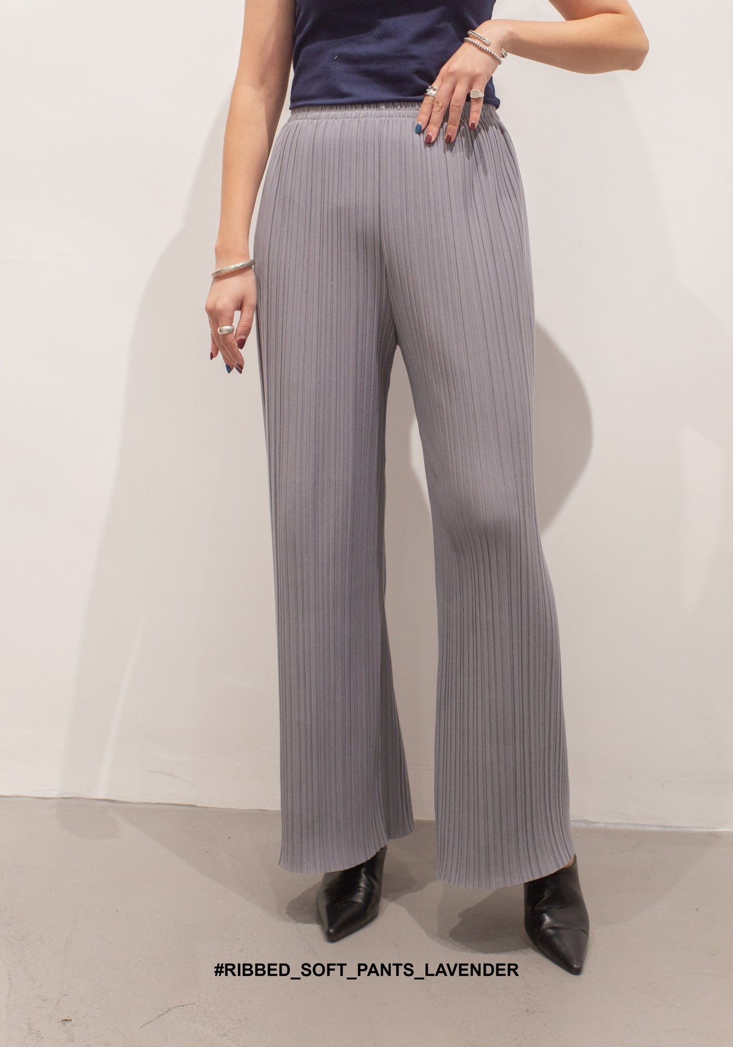 Ribbed Soft Pants Lavender - whoami