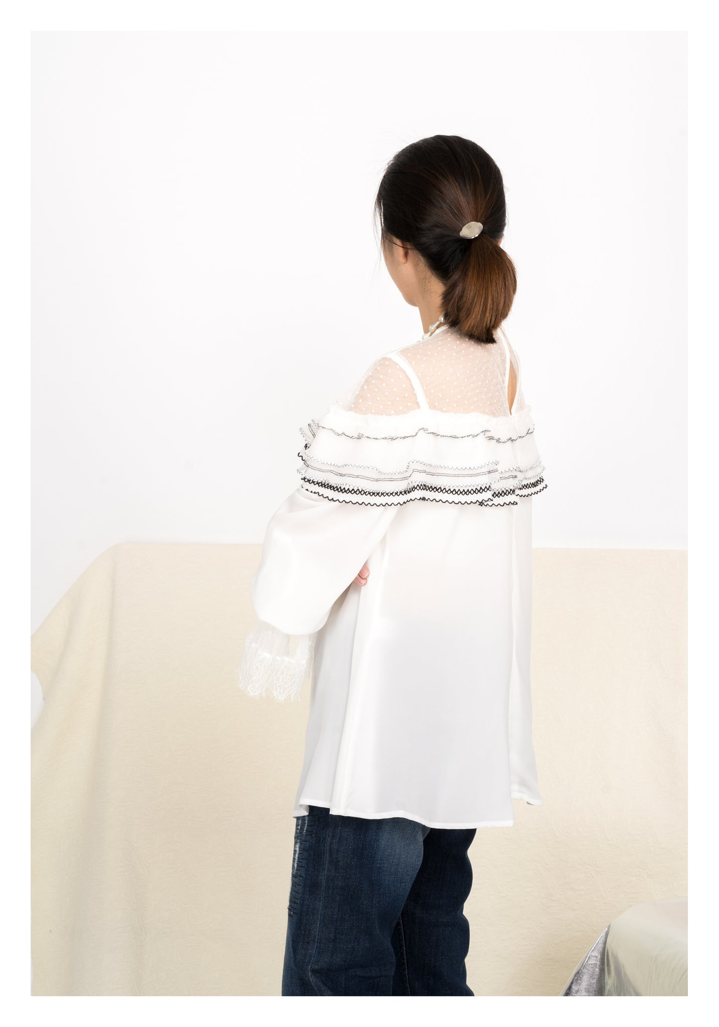Romantic Ruffle Blouse