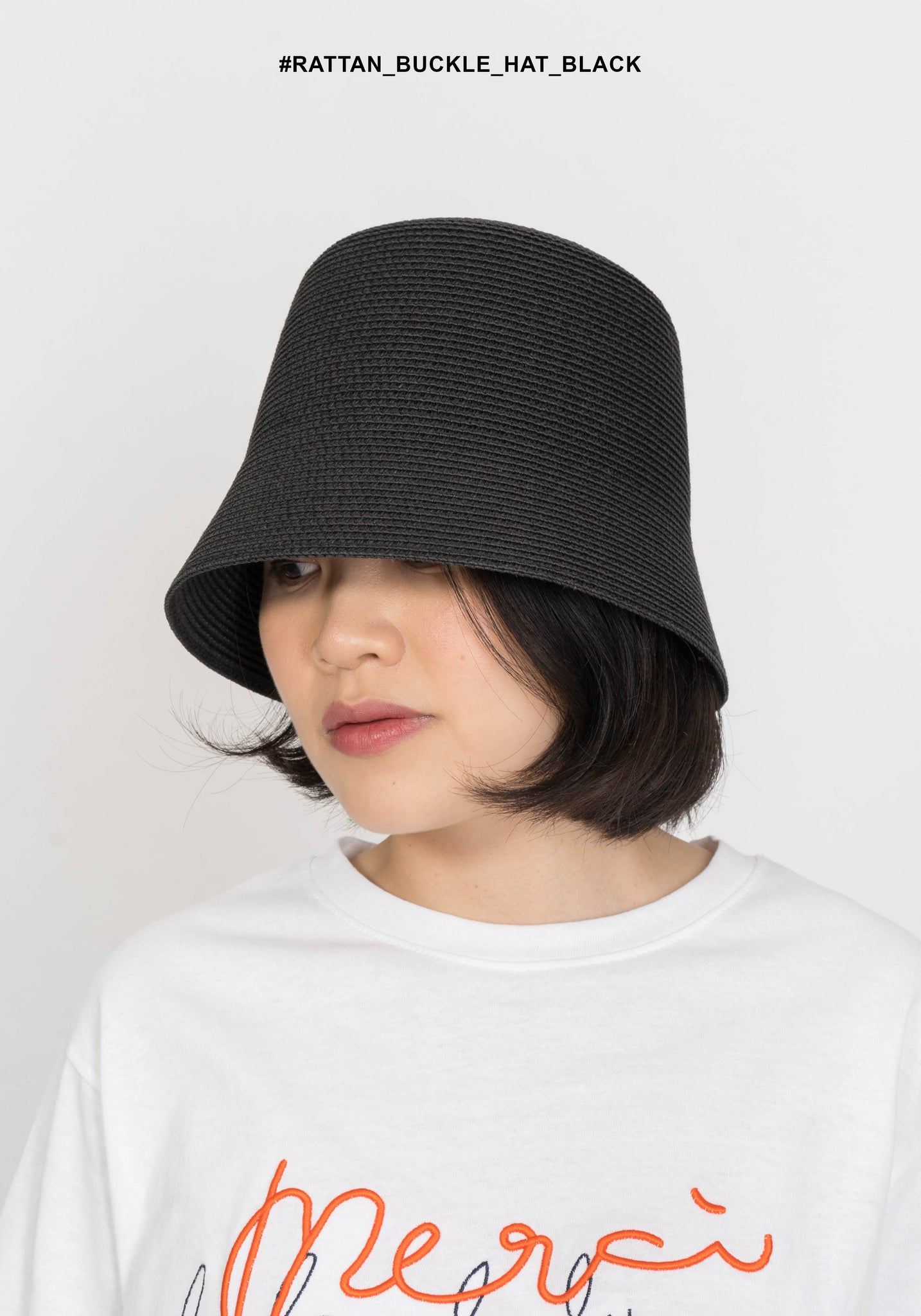 Rattan Buckle Hat Black - whoami