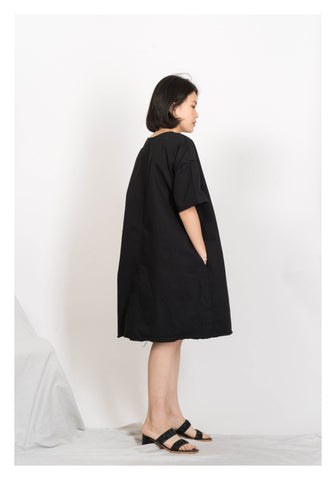 Raw Edge Workware Dress Black - whoami