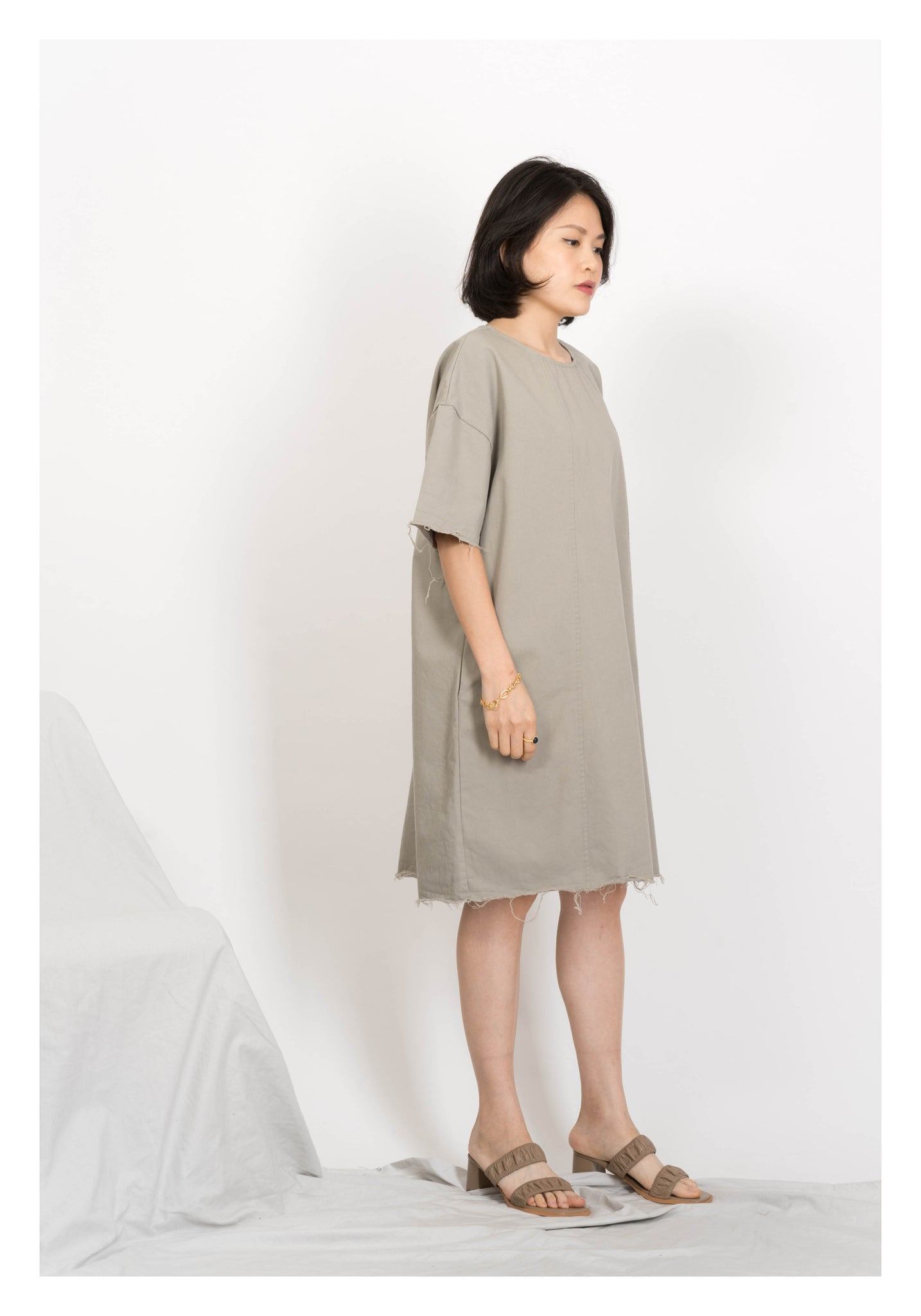 Raw Edge Workware Dress Grey - whoami