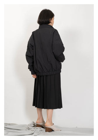 Raglan Sleeve Pocket Parka Jacket Black - whoami