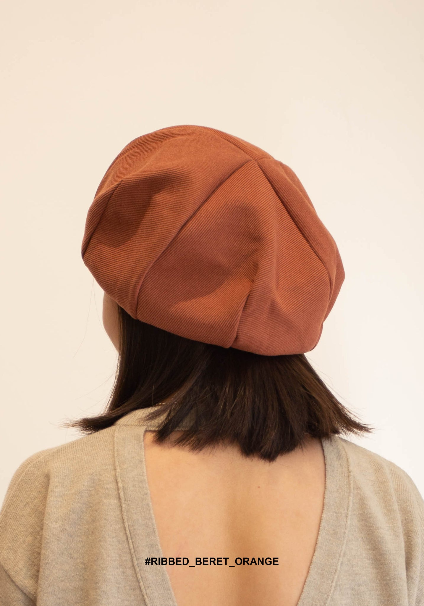 Ribbed Beret Orange - whoami
