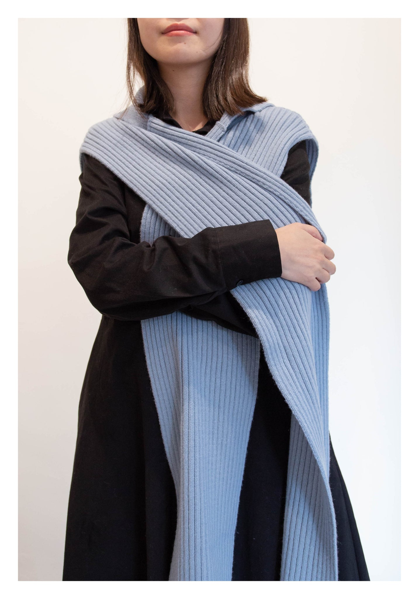 Ribbed Salior Scarf Blue - whoami