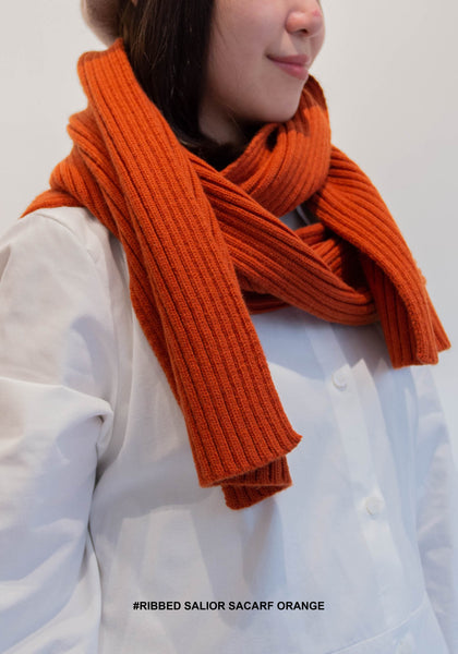 Ribbed Salior Scarf Orange - whoami